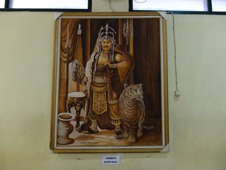 083115 Lukisan Prabu Siliwangi Bisa 'Melirik' di Keraton Cirebon